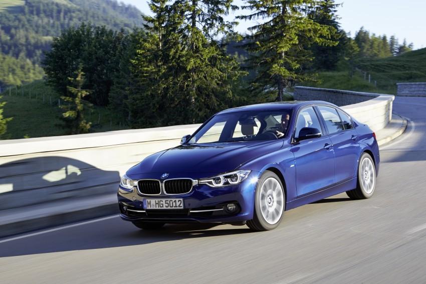 GALLERY: BMW F30 LCI 340i in Mediterranean Blue Image #360034