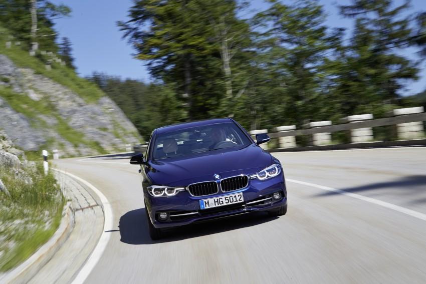 GALLERY: BMW F30 LCI 340i in Mediterranean Blue Image #360056