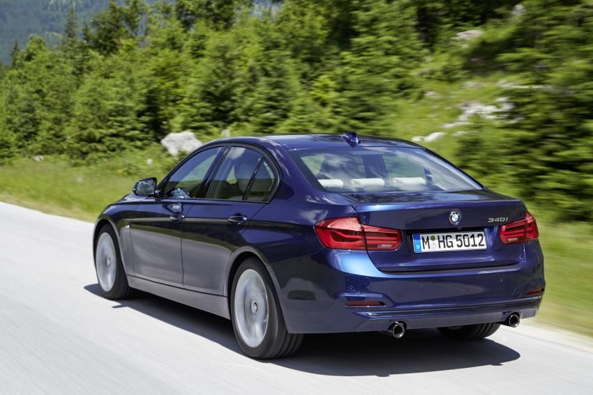 GALLERY: BMW F30 LCI 340i in Mediterranean Blue Image #360065