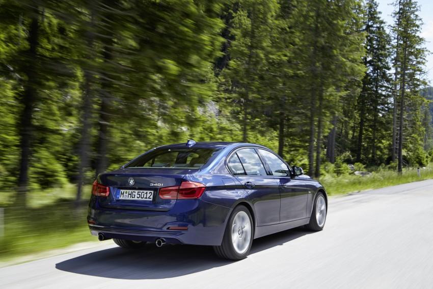 GALLERY: BMW F30 LCI 340i in Mediterranean Blue Image #360046