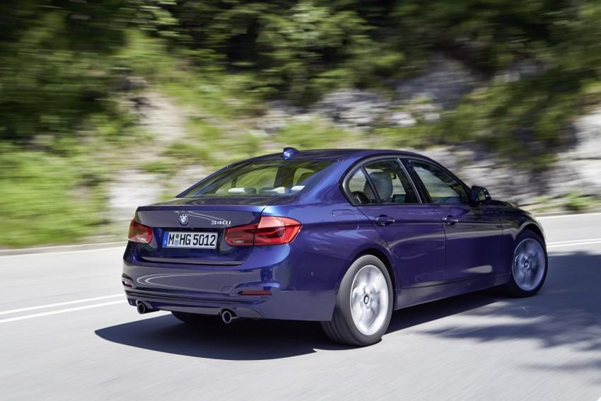GALLERY: BMW F30 LCI 340i in Mediterranean Blue Image #360068