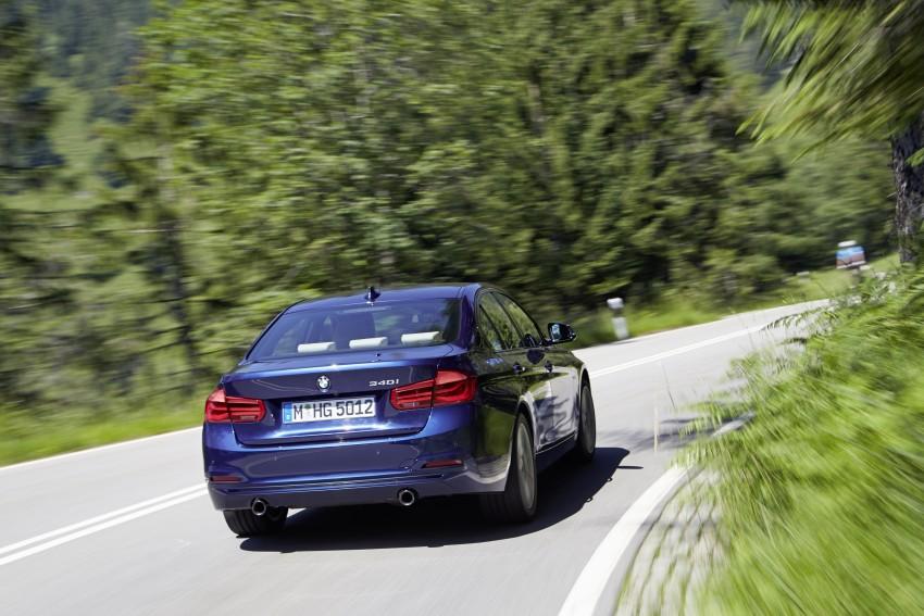 GALLERY: BMW F30 LCI 340i in Mediterranean Blue Image #360042