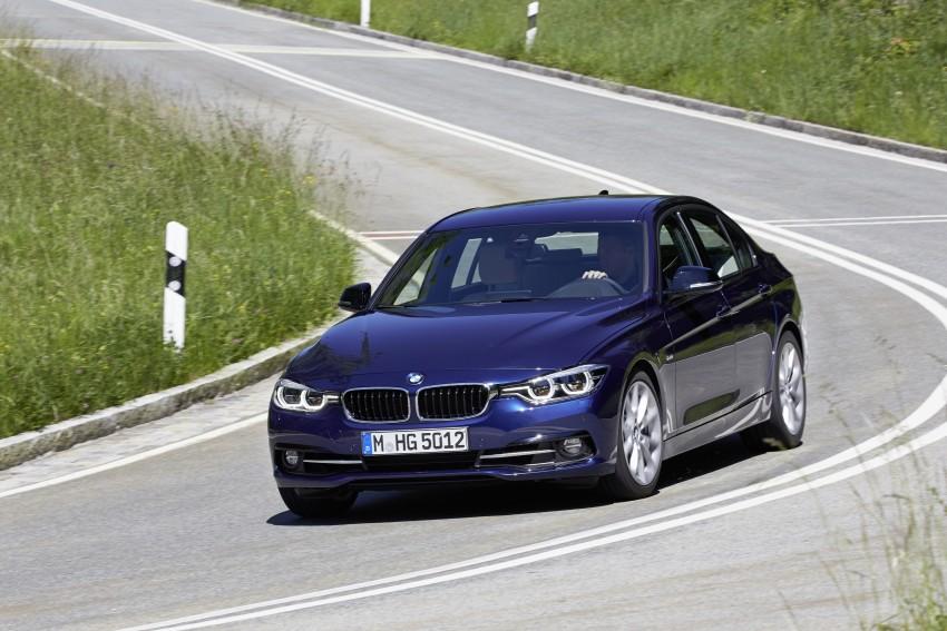 GALLERY: BMW F30 LCI 340i in Mediterranean Blue Image #360035