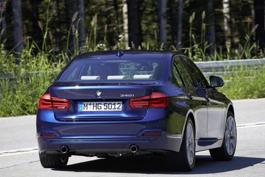 GALLERY: BMW F30 LCI 340i in Mediterranean Blue Image #360040