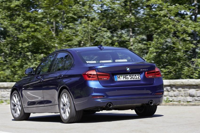GALLERY: BMW F30 LCI 340i in Mediterranean Blue Image #360036