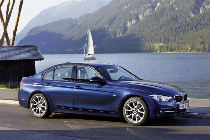 GALLERY: BMW F30 LCI 340i in Mediterranean Blue Image #360123