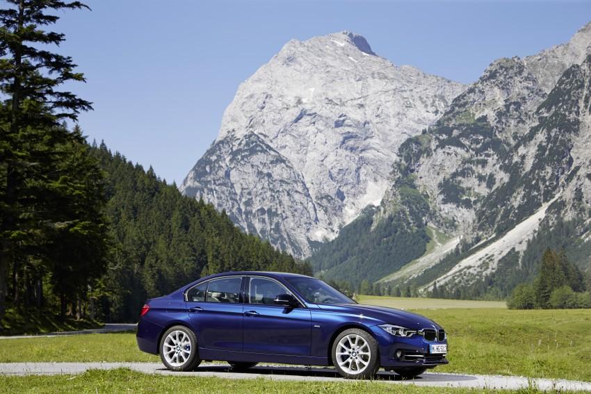GALLERY: BMW F30 LCI 340i in Mediterranean Blue Image #360110