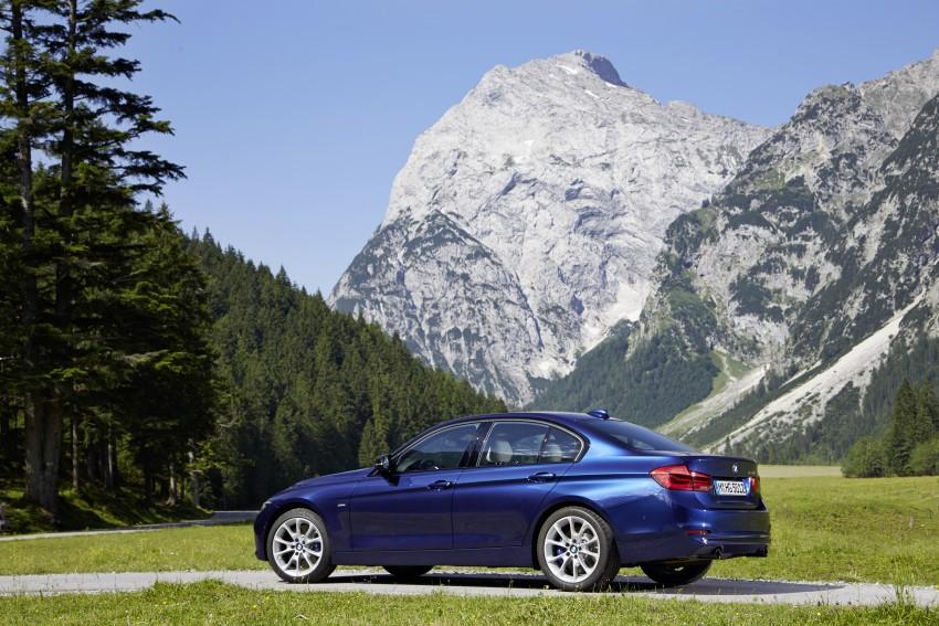 GALLERY: BMW F30 LCI 340i in Mediterranean Blue Image #360111