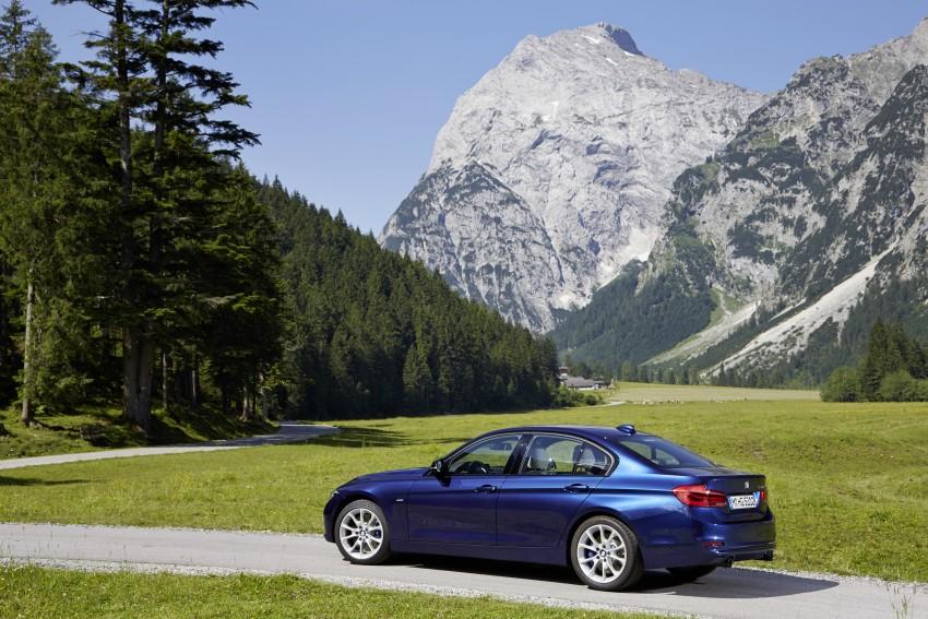 GALLERY: BMW F30 LCI 340i in Mediterranean Blue Image #360107