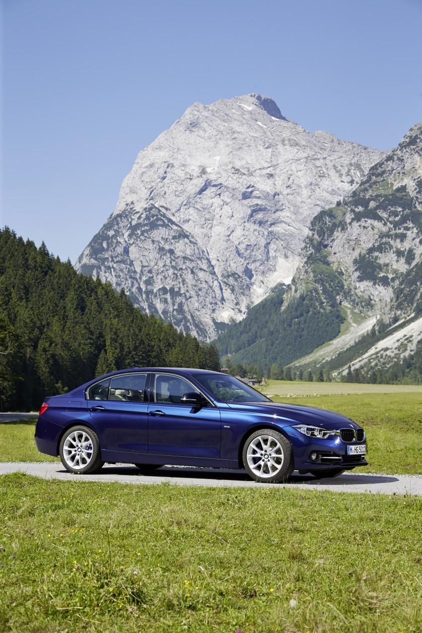 GALLERY: BMW F30 LCI 340i in Mediterranean Blue Image #360105