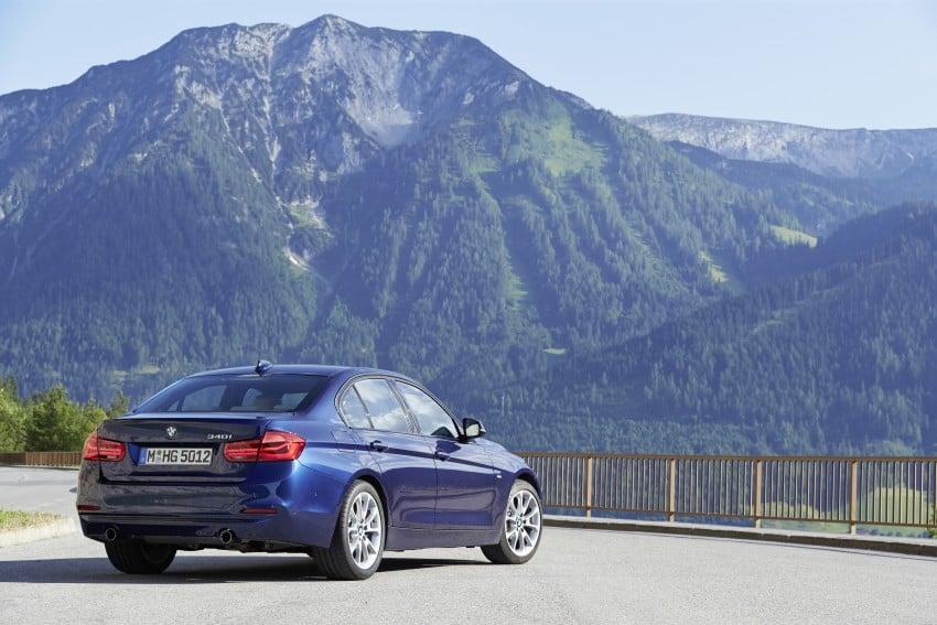 GALLERY: BMW F30 LCI 340i in Mediterranean Blue Image #360114