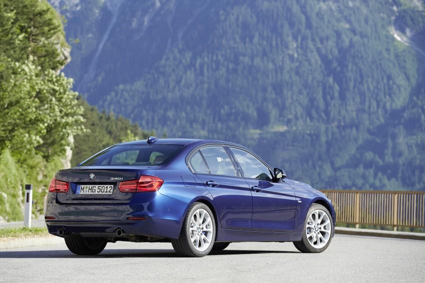 GALLERY: BMW F30 LCI 340i in Mediterranean Blue Image #360117
