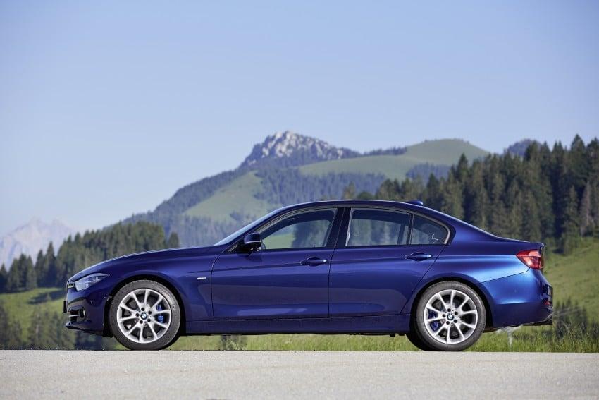 GALLERY: BMW F30 LCI 340i in Mediterranean Blue Image #360131