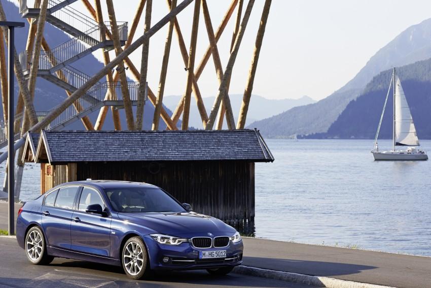 GALLERY: BMW F30 LCI 340i in Mediterranean Blue Image #360122