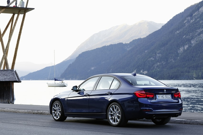GALLERY: BMW F30 LCI 340i in Mediterranean Blue Image #360126