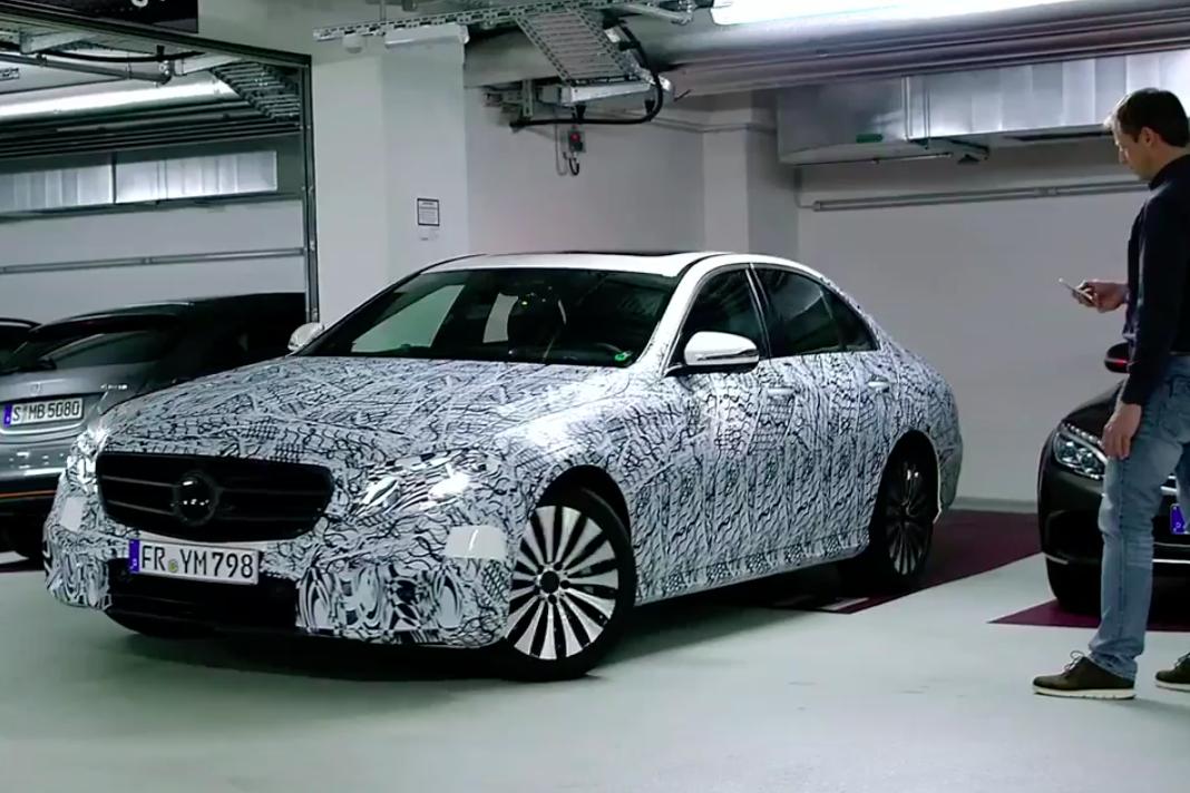 W213 mercedes benz e class tech revealed remote parking for Mercedes benz technician