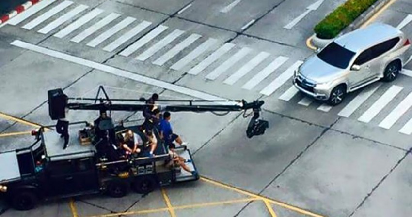 SPYSHOTS: Mitsubishi Pajero Sport spotted undisguised undergoing TVC shoot in Thailand Image #358524