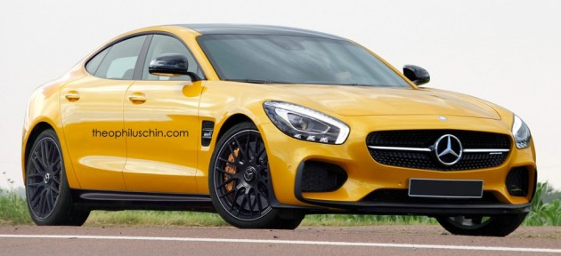 2018 mercedes-amg gt4 rendered, to rival panamera, m6 gc