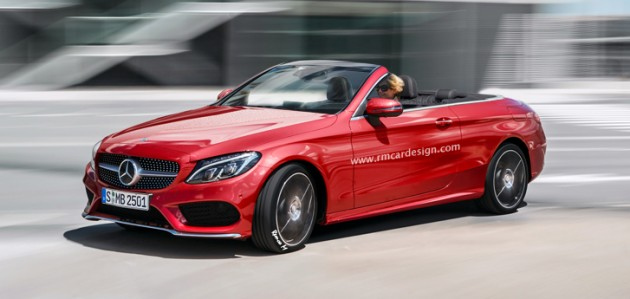 mercedes cclass convertible reimagined in all of its glory