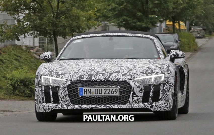 SPIED: 2016 Audi R8 Spyder spotted testing Image #370559