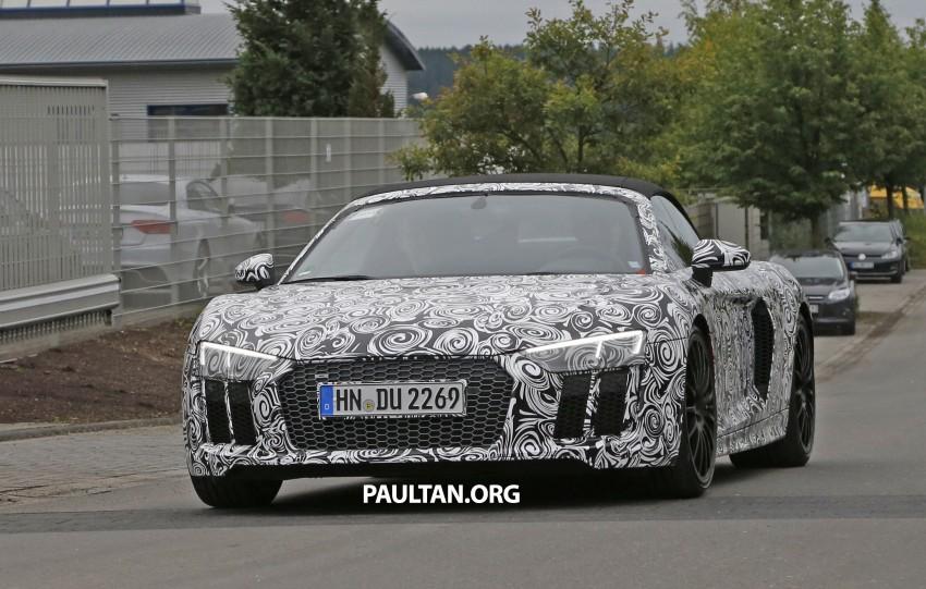 SPIED: 2016 Audi R8 Spyder spotted testing Image #370558
