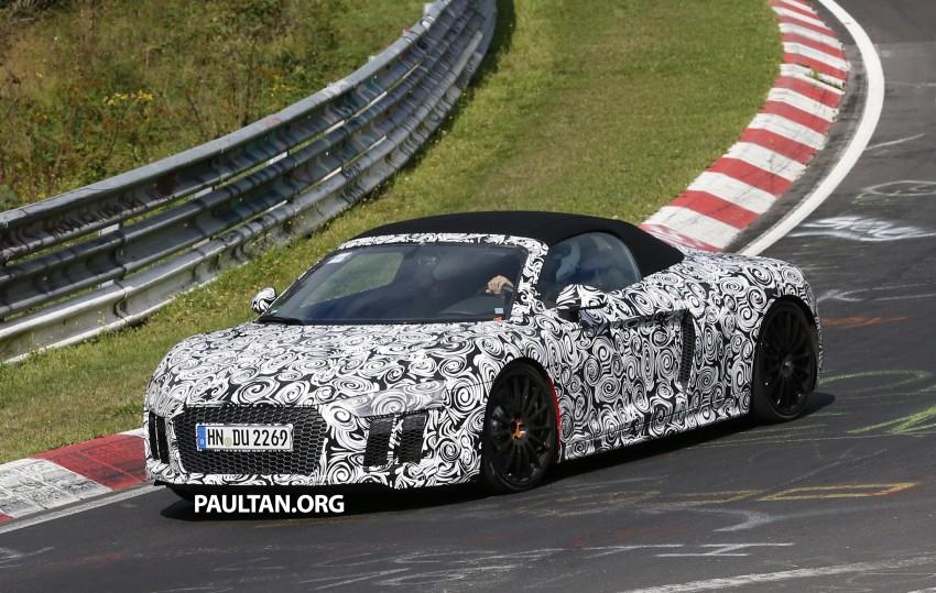 SPIED: 2016 Audi R8 Spyder spotted testing Image #370566