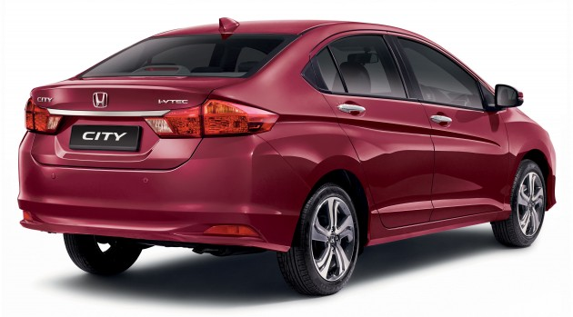 Honda City_Dark Ruby Red Pearl_Back