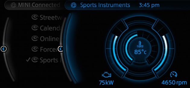 Mini Connected App 2015 Sports Instrument