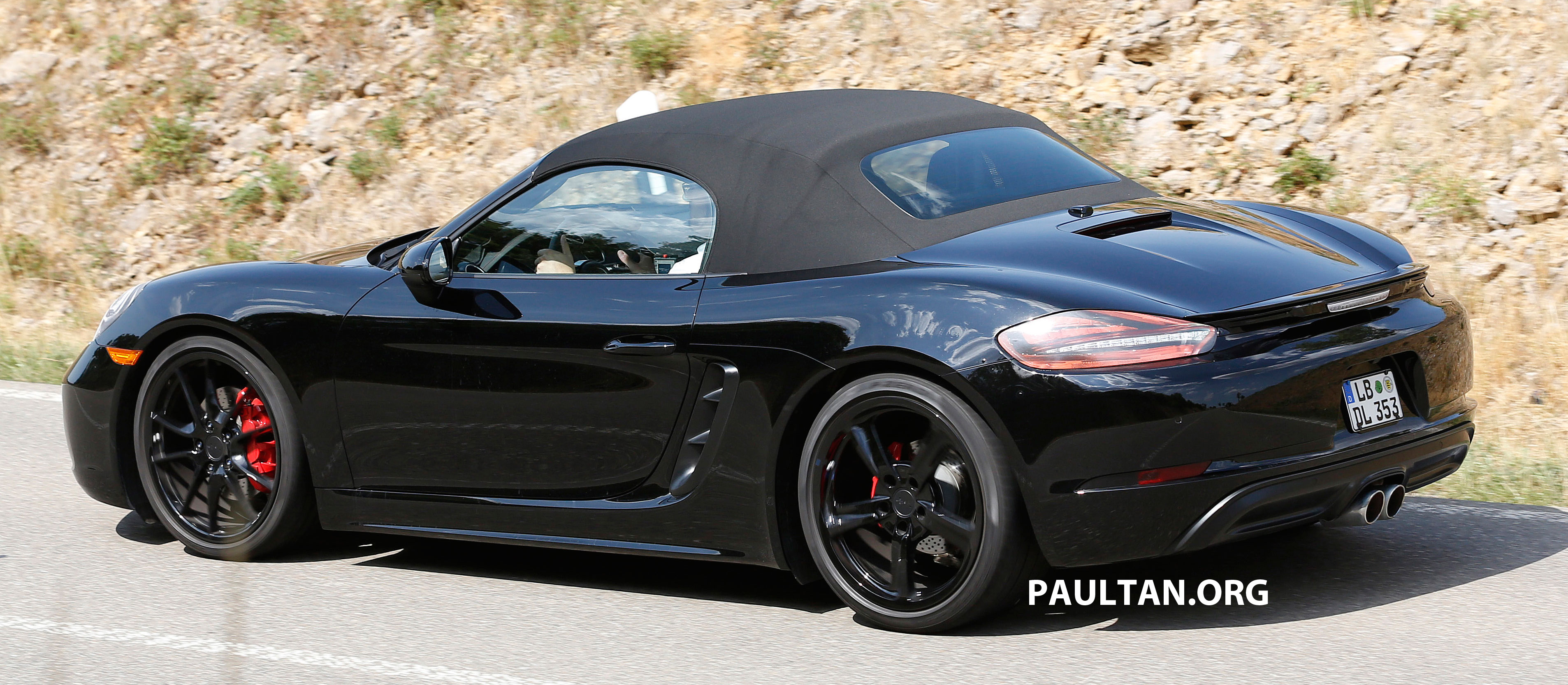Spied 2016 Porsche Boxster Facelift Undisguised Paul Tan Image 365166