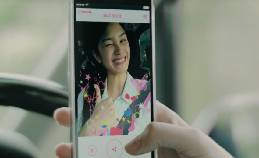 Toyota launches new 'Seat Selfie' seat belt mobile app Image #370460
