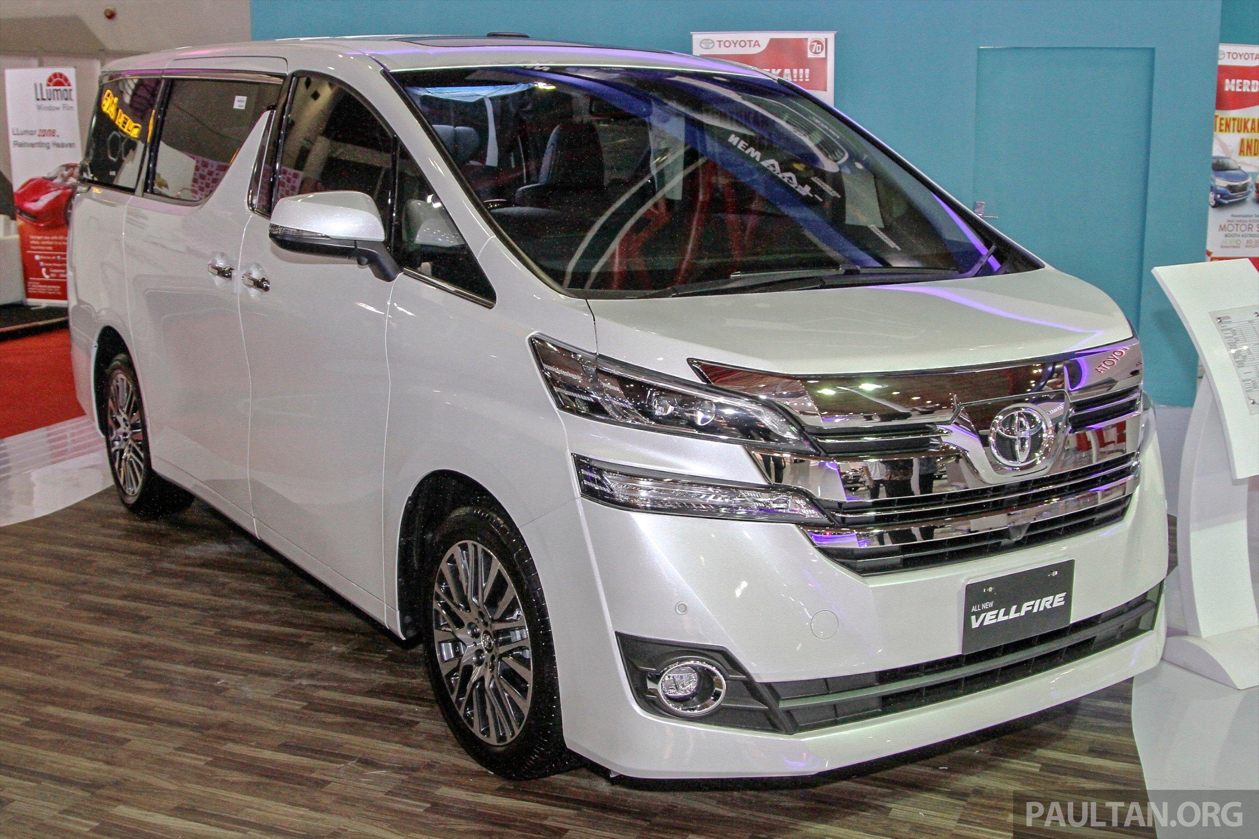 IIMS 2015: Toyota Vellfire Appears