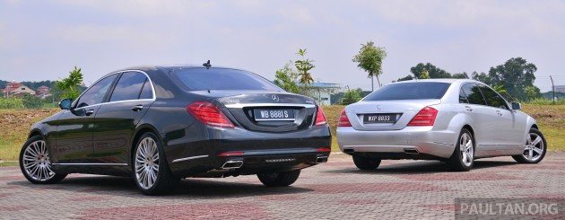 gallery: mercedes-benz s-class - w222 vs w221