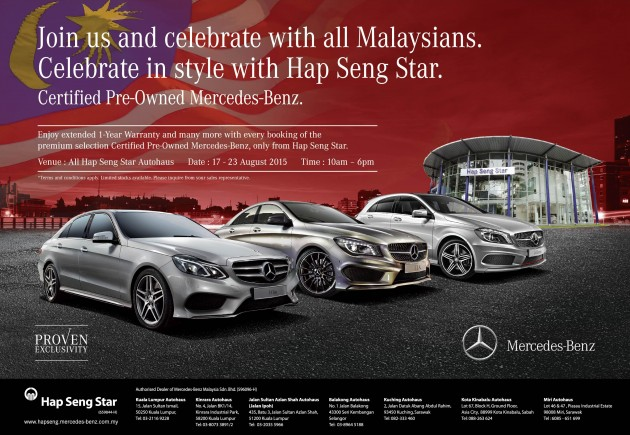 AD: Enjoy Extended One Year Warranty For Certified Pre Owned Mercedes Benz  Models At Hap Seng Star