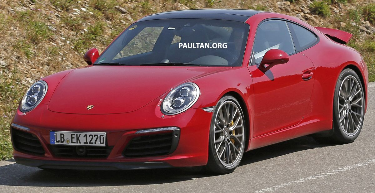 Spied Porsche 911 Facelift Entire Range Photographed Paul