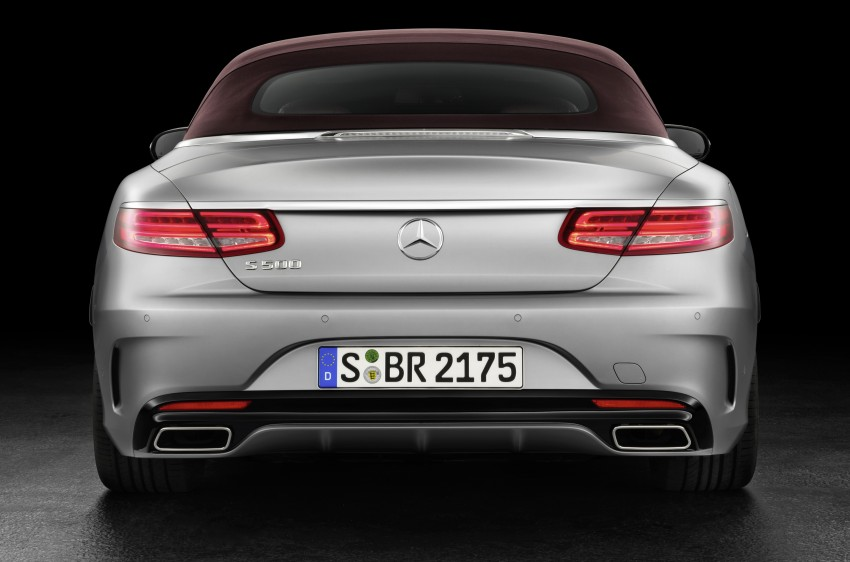 Mercedes-Benz S-Class Cabriolet officially revealed Image #374209
