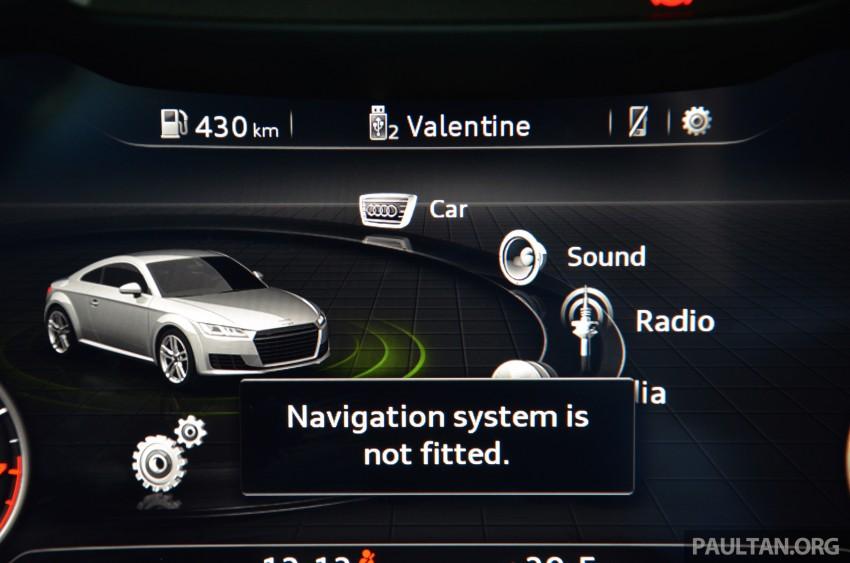 DRIVEN: 2015 Audi TT 2.0 TFSI – trading feel for speed Image #374966