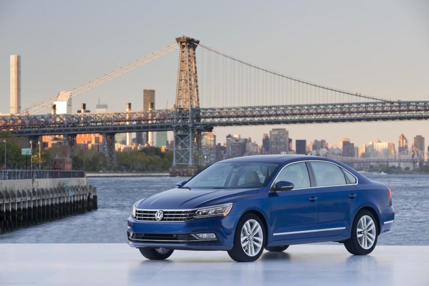 2016 Volkswagen Passat – US model receives facelift Image #382381