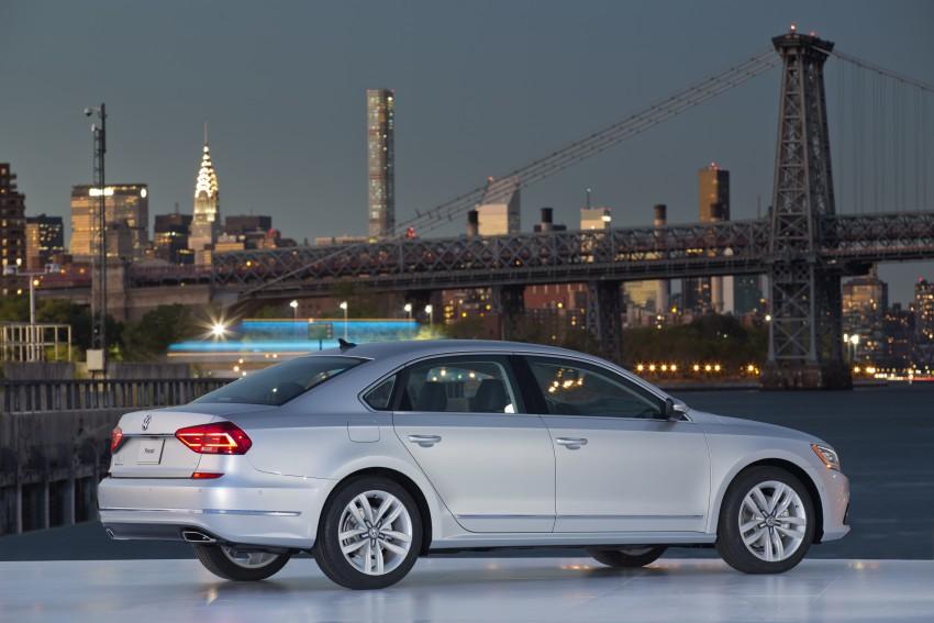 2016 Volkswagen Passat – US model receives facelift Image #382388