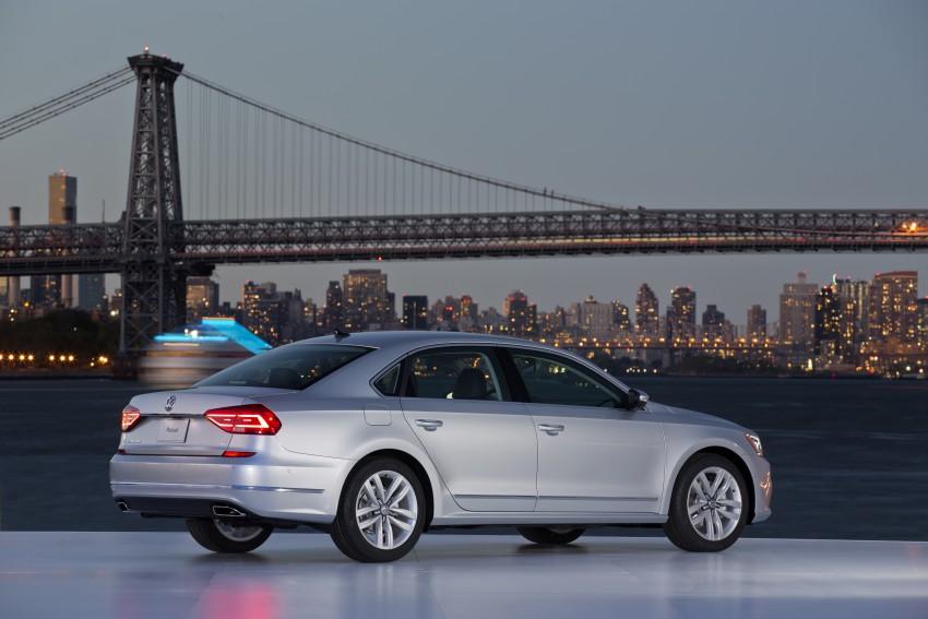 2016 Volkswagen Passat – US model receives facelift Image #382389