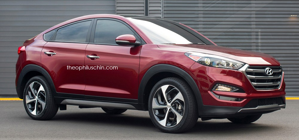 Hyundai Tucson Coupe Suv Rendered Looking Good