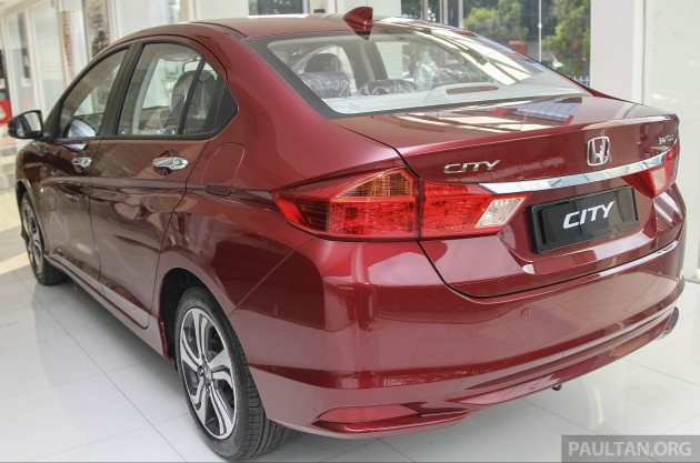 Honda City Dark Ruby Red Pearl 4