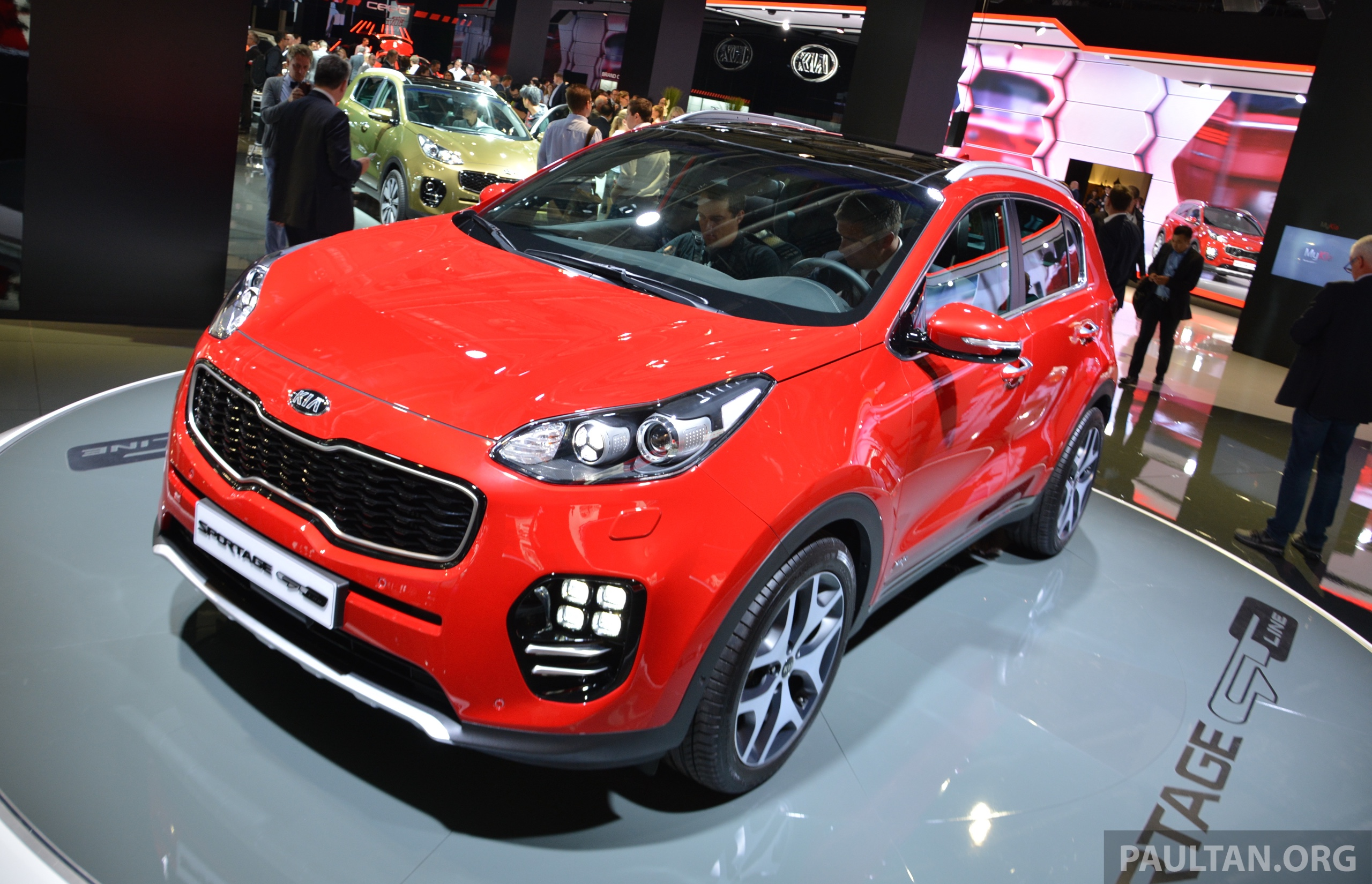 frankfurt 2015 2016 kia sportage unveiled in the flesh image 380294. Black Bedroom Furniture Sets. Home Design Ideas