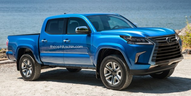 lexus lx 570 rendered as a luxury pick up truck