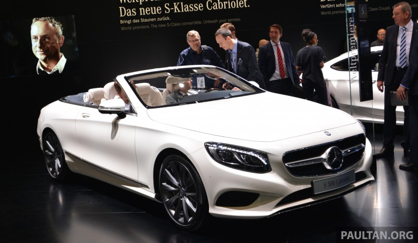 GALLERY: A217 Mercedes-Benz S-Class Cabriolet – the S500 and AMG S63 4Matic debut in Frankfurt Image #381719