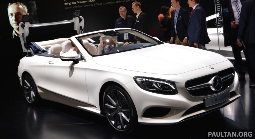 GALLERY: A217 Mercedes-Benz S-Class Cabriolet – the S500 and AMG S63 4Matic debut in Frankfurt Image #381721