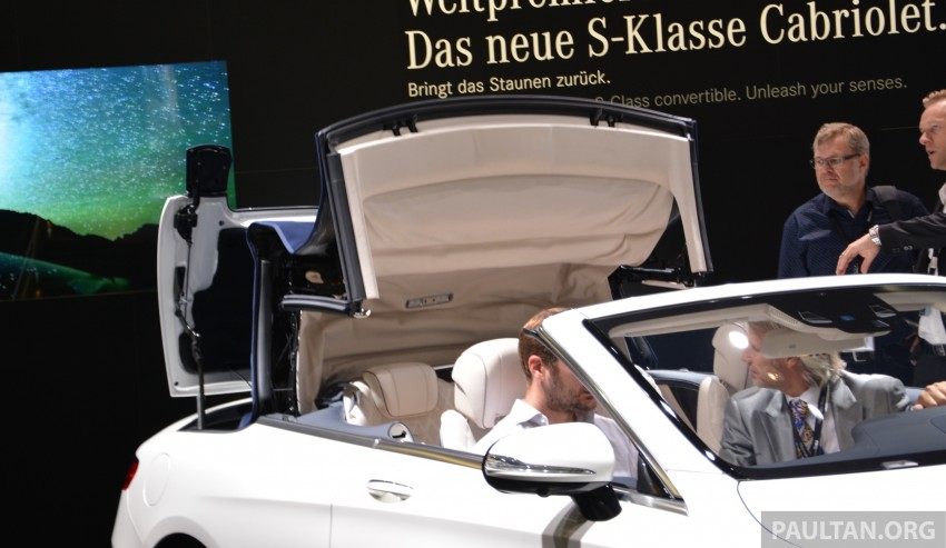 GALLERY: A217 Mercedes-Benz S-Class Cabriolet – the S500 and AMG S63 4Matic debut in Frankfurt Image #381722