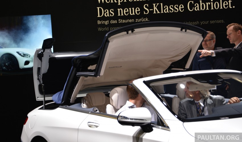GALLERY: A217 Mercedes-Benz S-Class Cabriolet – the S500 and AMG S63 4Matic debut in Frankfurt Image #381723