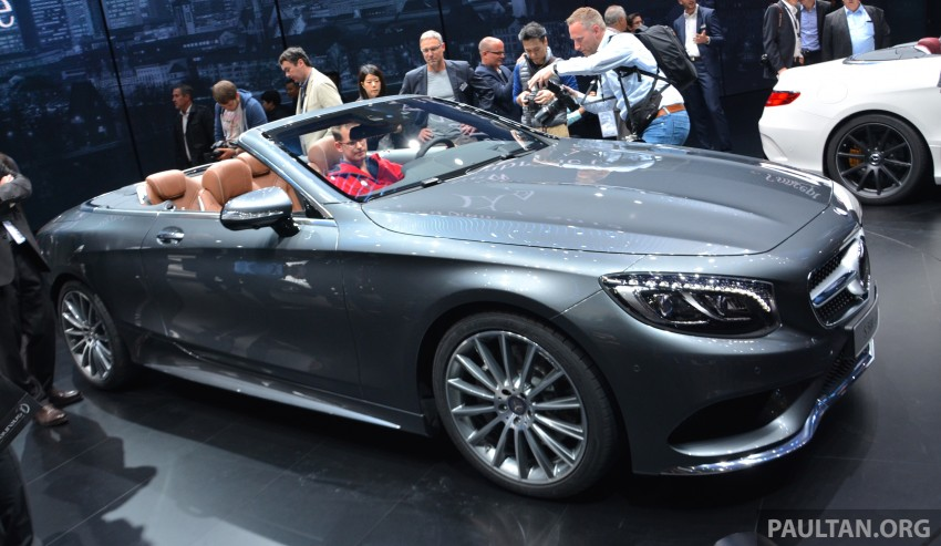 GALLERY: A217 Mercedes-Benz S-Class Cabriolet – the S500 and AMG S63 4Matic debut in Frankfurt Image #380019