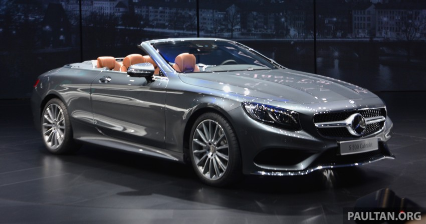 GALLERY: A217 Mercedes-Benz S-Class Cabriolet – the S500 and AMG S63 4Matic debut in Frankfurt Image #380020
