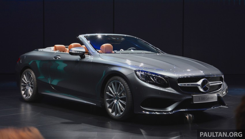 GALLERY: A217 Mercedes-Benz S-Class Cabriolet – the S500 and AMG S63 4Matic debut in Frankfurt Image #380004